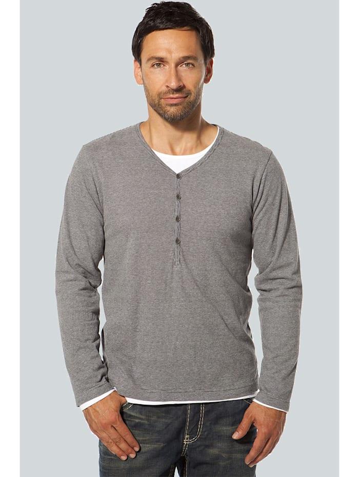 Camp David T-Shirt, grey melange