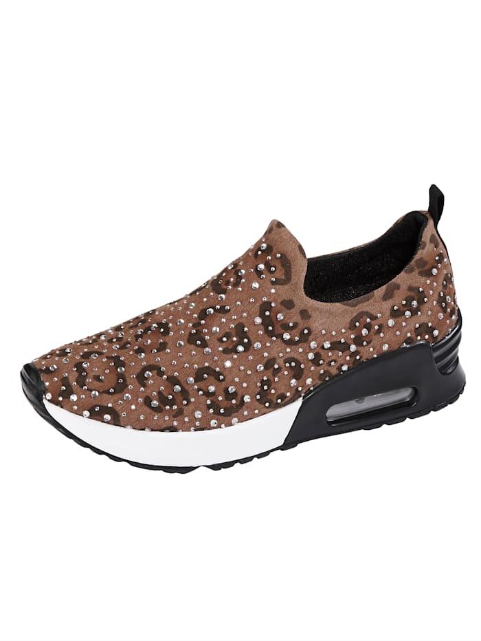 Sneaker in luipaardlook