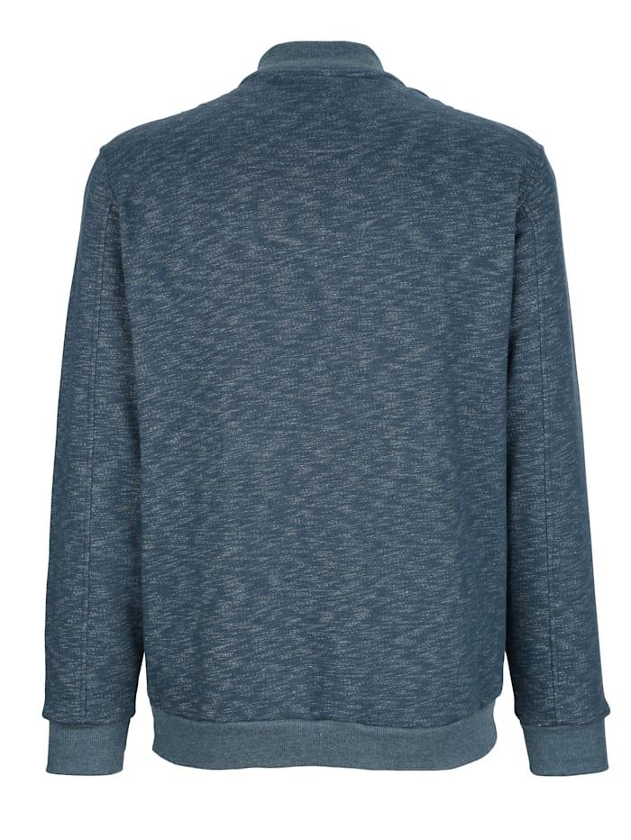 Sweatshirtjacka i melerat material