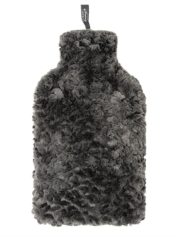 Fashy Bouillotte avec housse en fausse fourrure 2.0 L, Gris