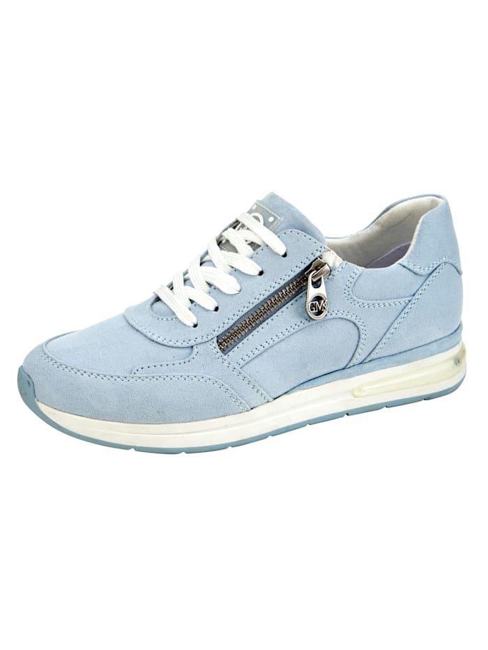 Marco Tozzi Sneaker mit seitlichem Reißverschluss, Hellblau