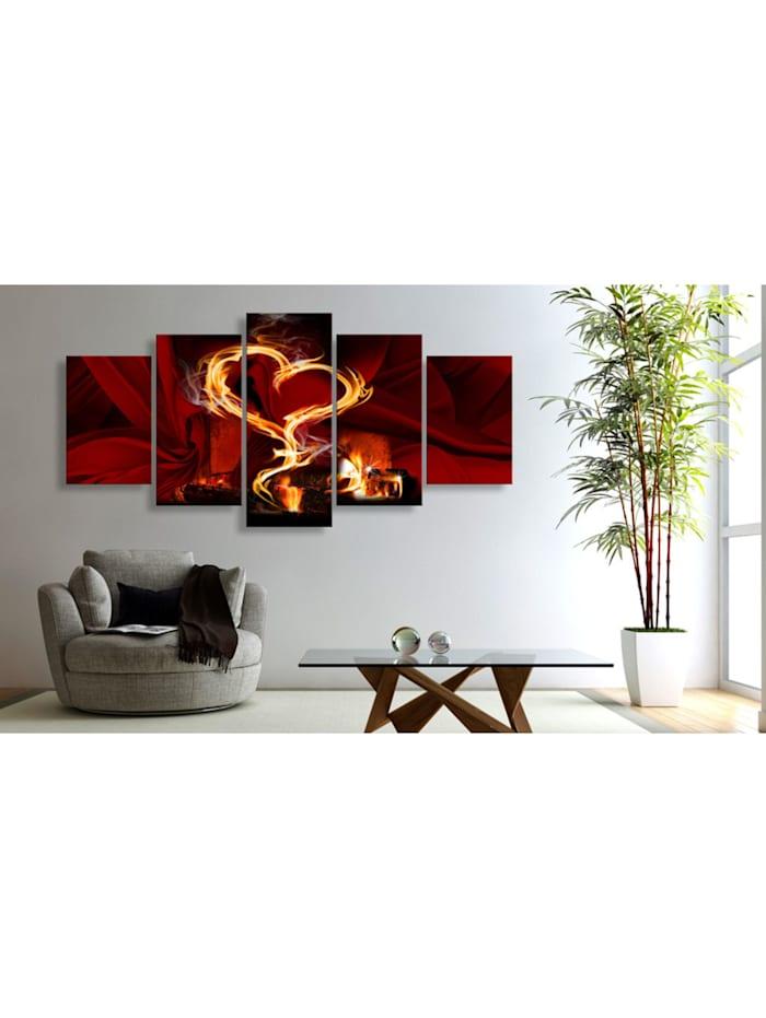 Wandbild Flammen der Liebe: Herzen