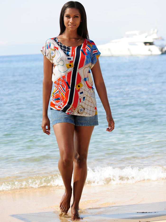 Strandbluse in Shirtform