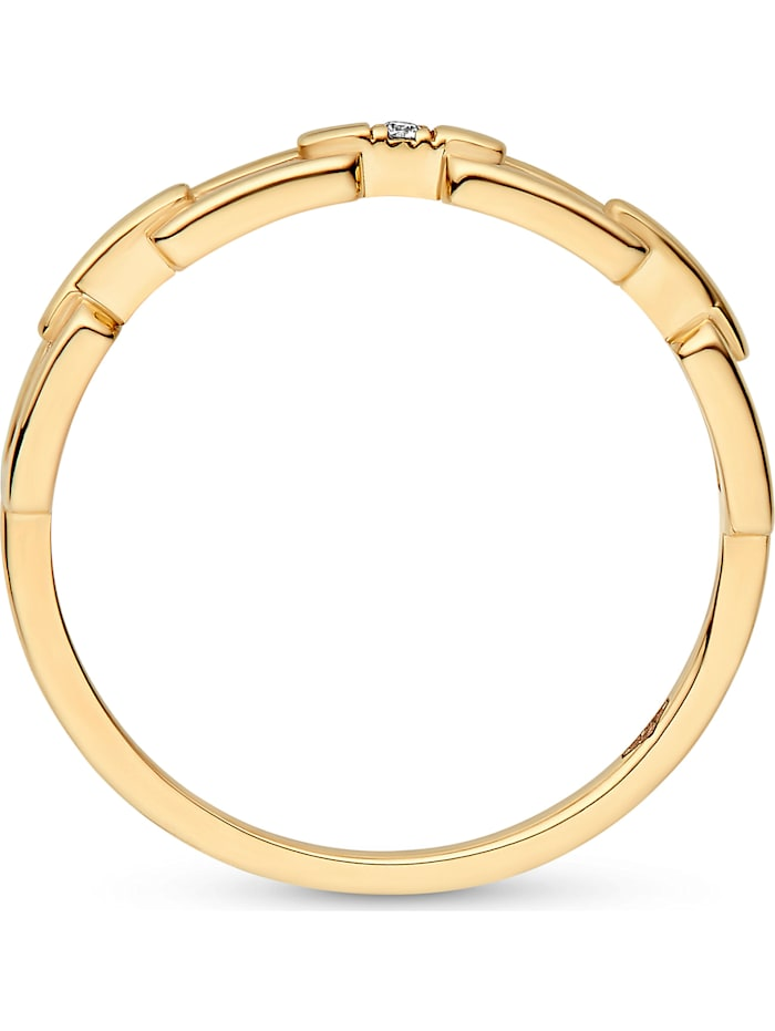 CHRIST Diamonds Damen-Damenring 375er Gelbgold Diamant