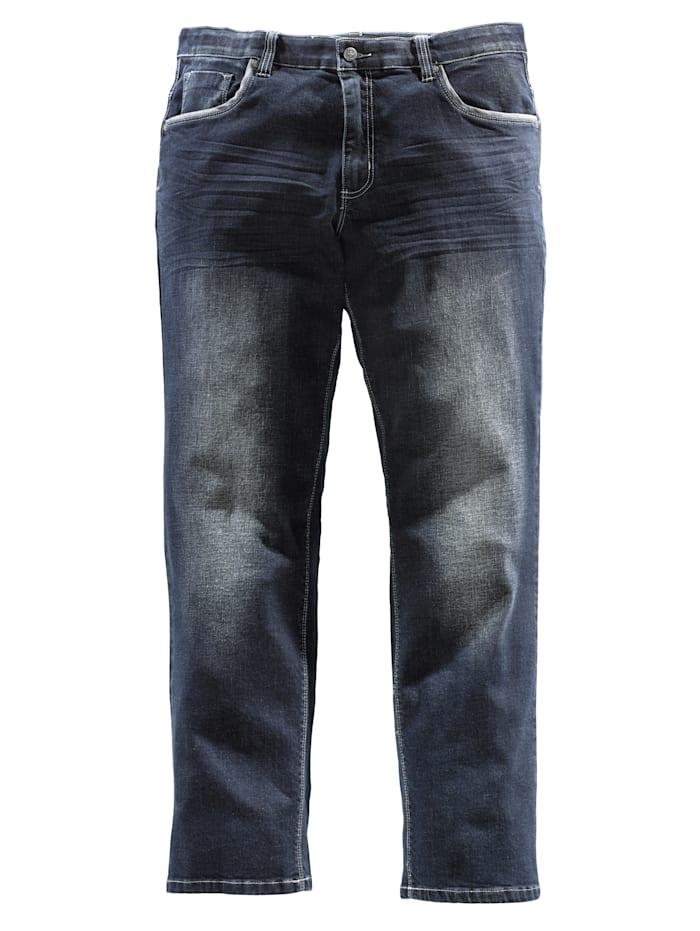 Men Plus Jeans med komfortresår i midjan, Mörkblå