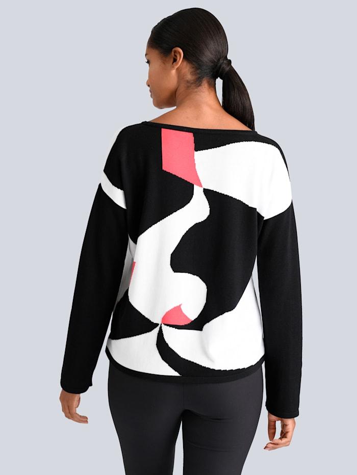 Pullover in modischen Kontrasfarben