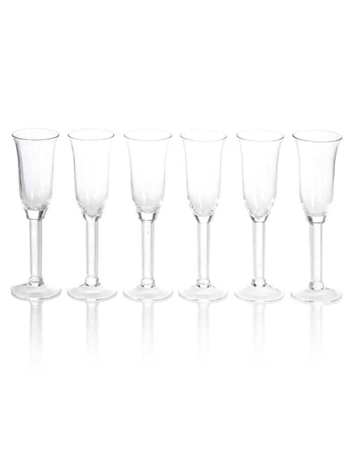 IMPRESSIONEN living Lot de 6 verres à champagne, transparent