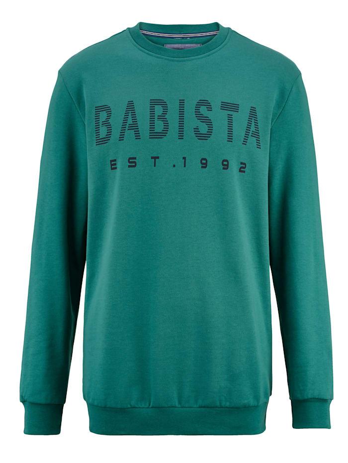 BABISTA Sweat-shirt à intérieur très doux, Vert