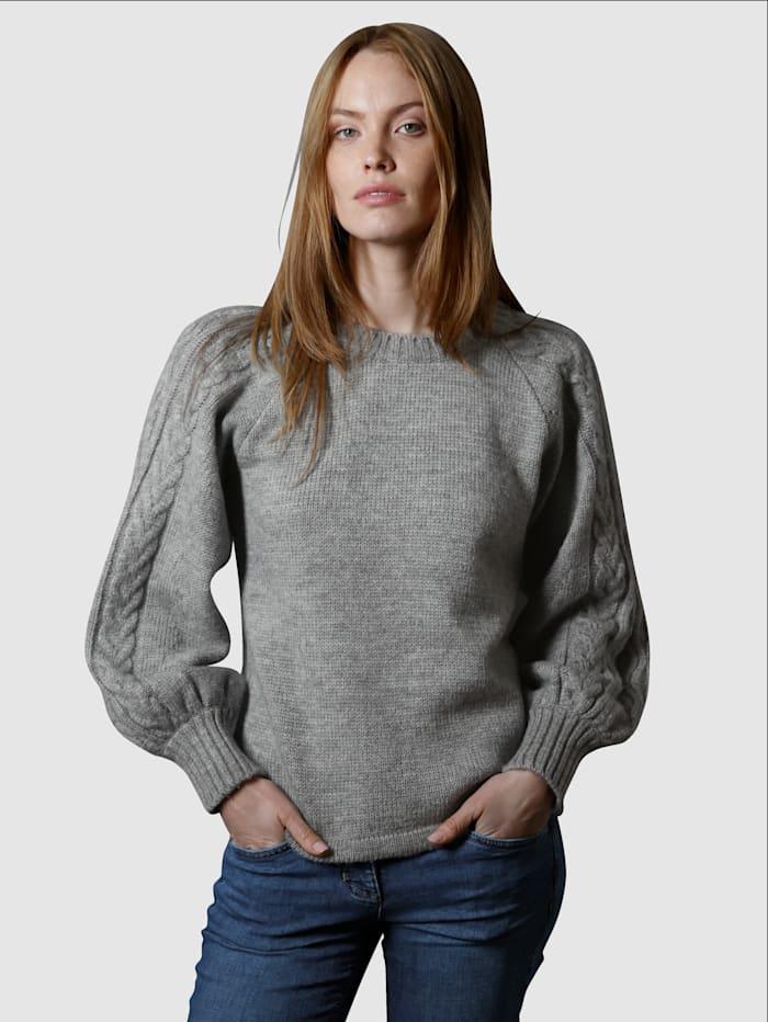 Laura Kent Tröja med puffiga ärmar, Grå