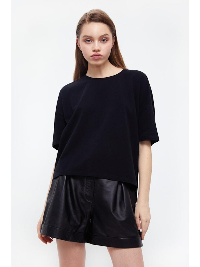 Finn Flare T-Shirt mit Oversize-Schnitt, black
