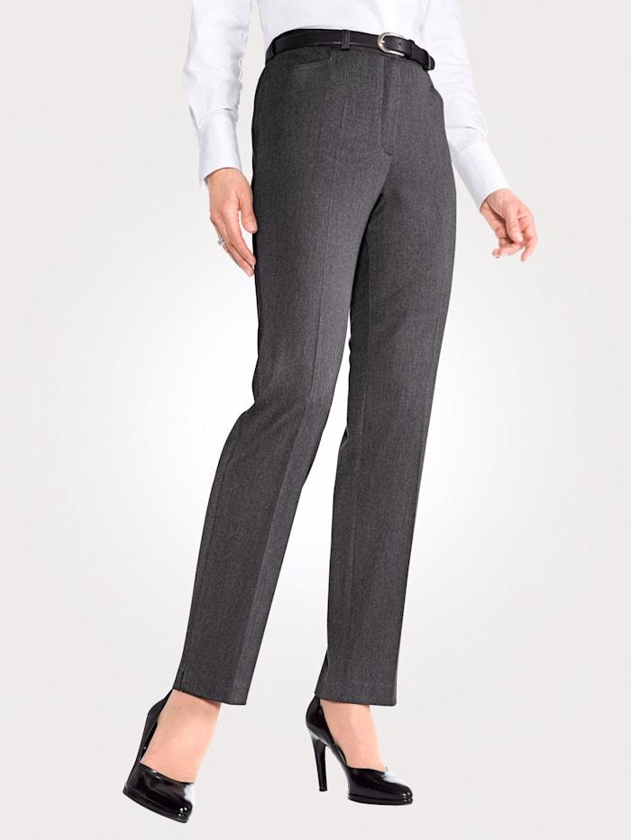 MONA Pantalon en matière stretch, Anthracite