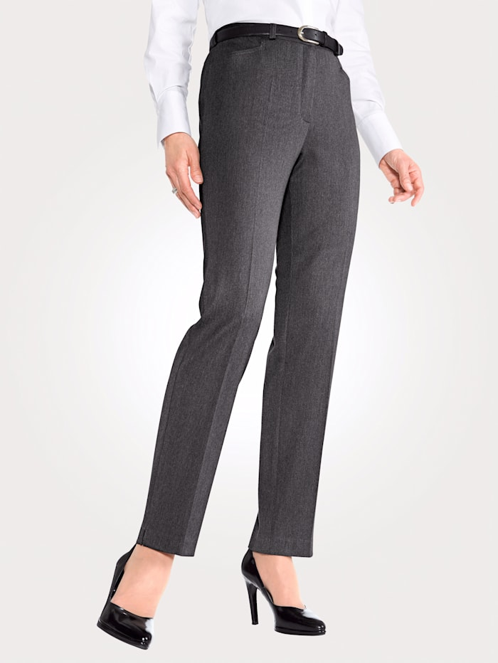 MONA Trousers with stretch, Anthracite