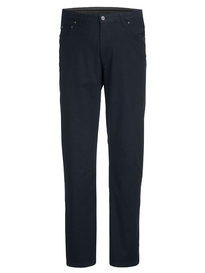 Men Plus Hose Straight Fit, Marineblau
