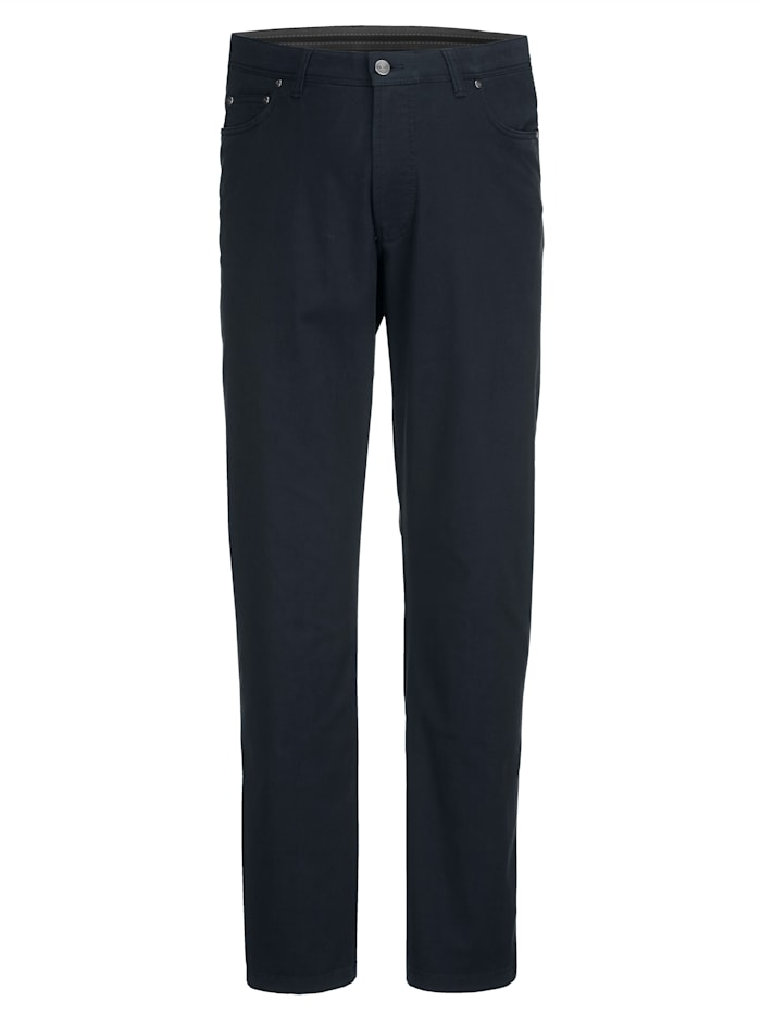 Men Plus Nohavice v strihu Straight Fit, Námornícka