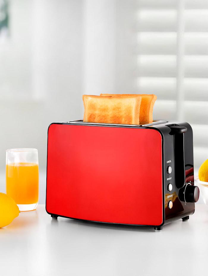 Kalorik Toaster TKG TO 1220, für 2 Brotscheiben, rot