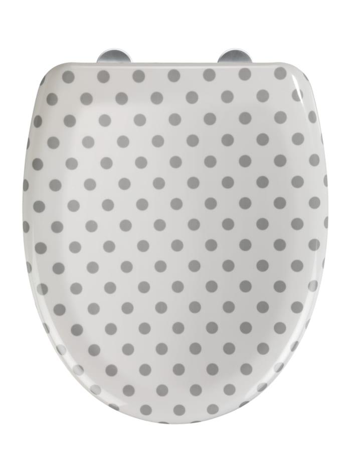 Wenko Premium WC-Sitz Punto, Duroplast, Absenkautomatik, Mehrfarbig, Befestigung: Silber matt