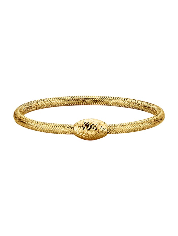 Armband i mesh, Guldfärgad