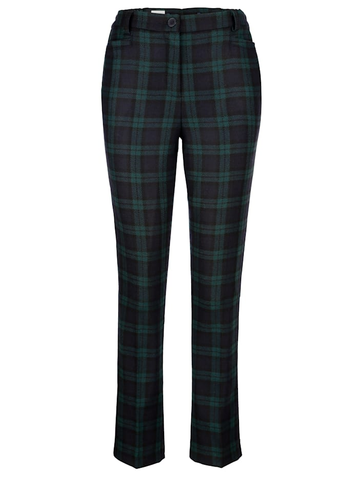 Trousers in Black Watch tartan