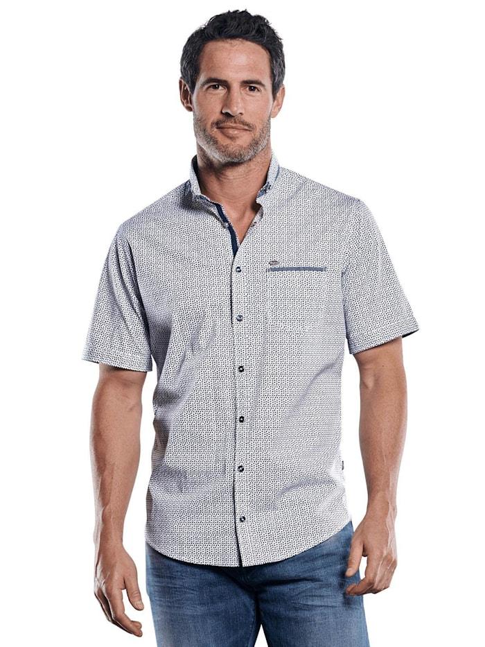 Engbers Hemd mit stylischer Musterung im Minimaldesign, Marineblau