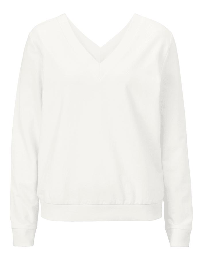 REKEN MAAR Sweatshirt, Weiß