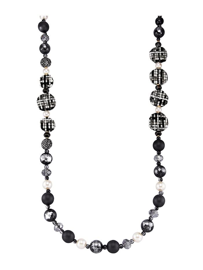 Halskette mit Glassteinen, Multicolor