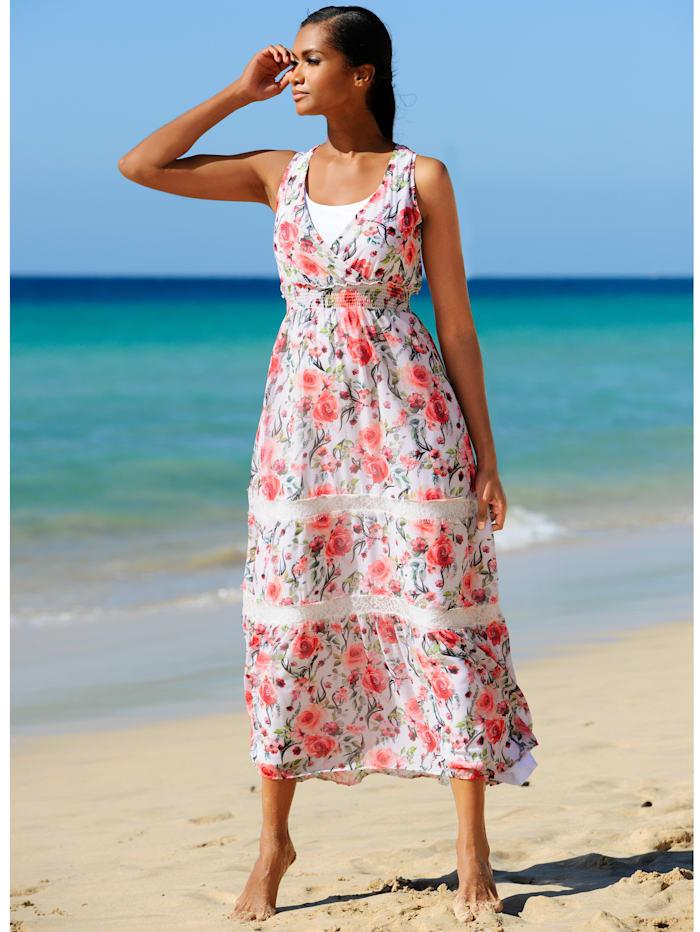 Strandkleid mit Spitzenbordüre