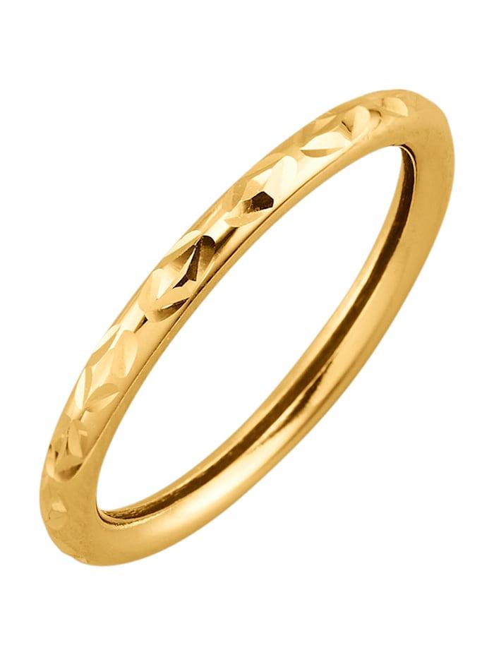 Ring i 9 k guld, Guldfärgad