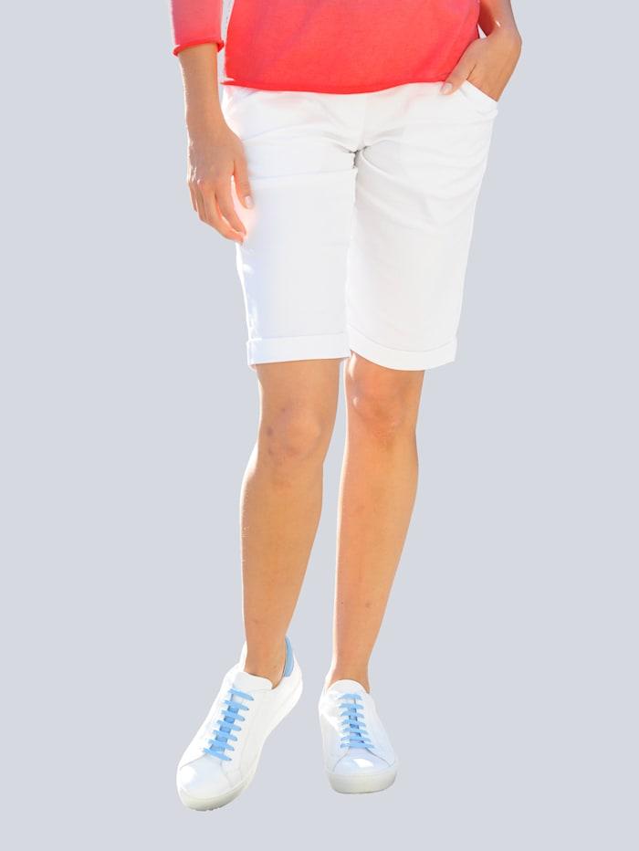Alba Moda Bermuda van comfortabel materiaal, Wit