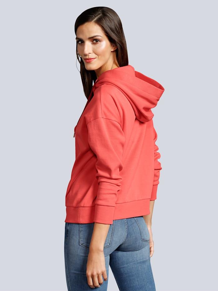 Sweatshirt mit breiten Bändern und Logo-Schriftzug