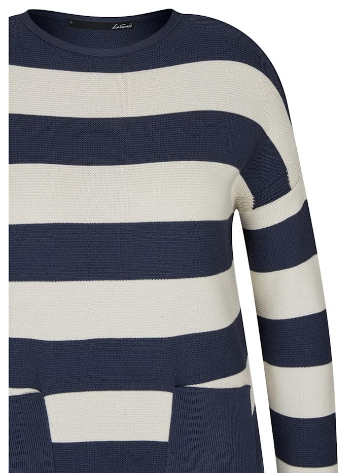Pullover mit Ringel-Muster und Rundhalsausschnitt
