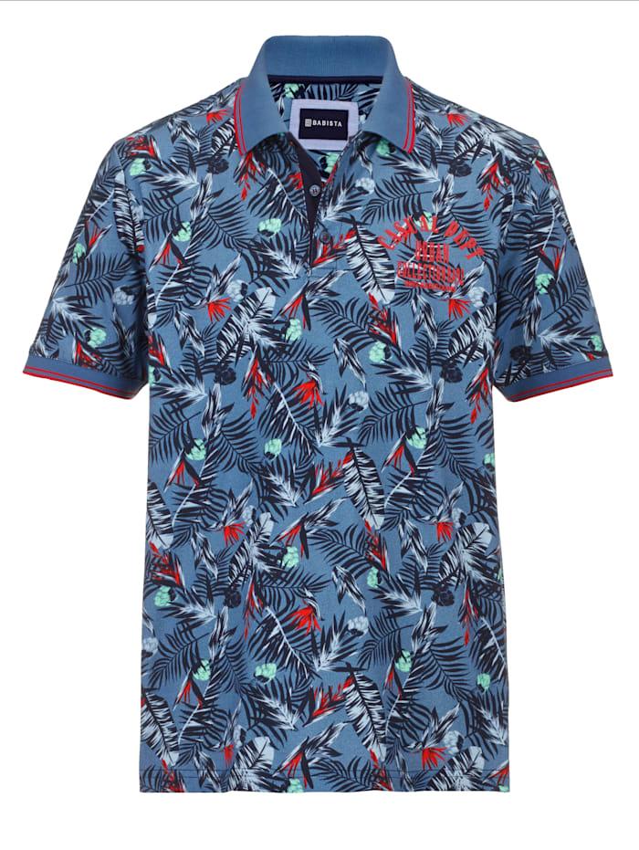BABISTA Poloshirt floral bedruckt, Blau