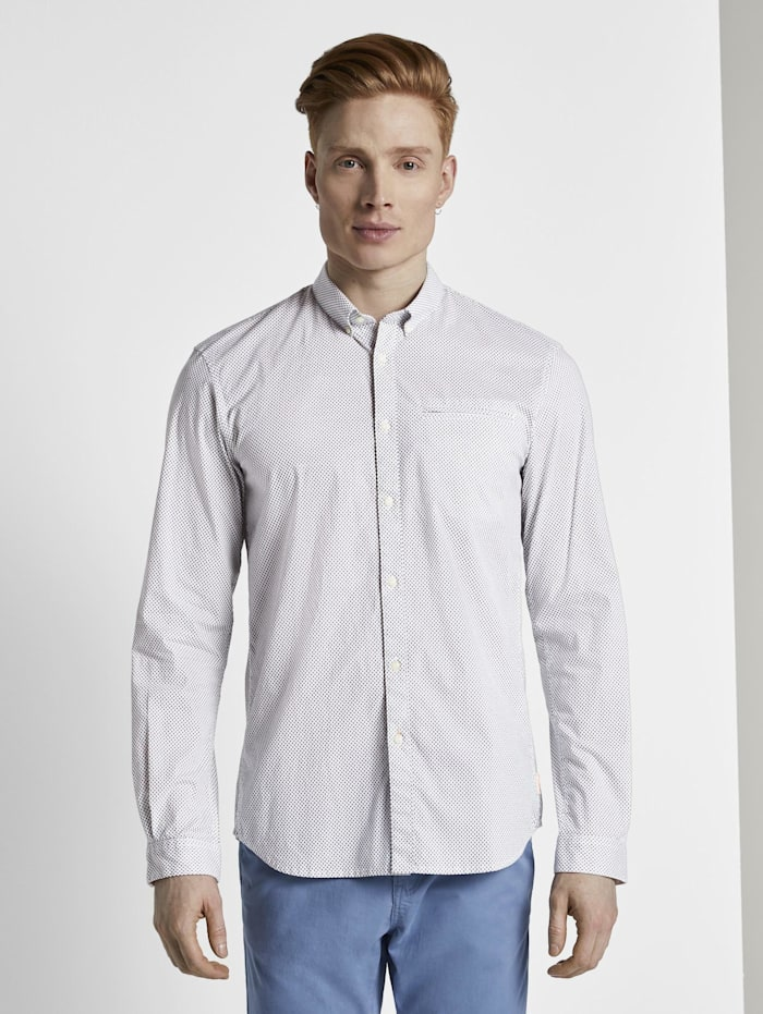 Gemustertes Hemd mit Turn-Ups