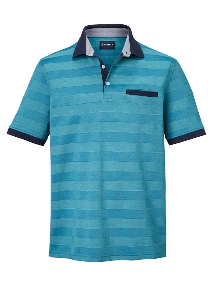 BABISTA Poloshirt Van gemerceriseerd katoen, Turquoise