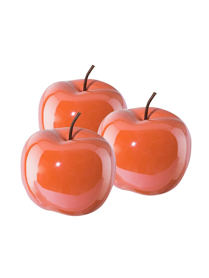 Creativ Deco Dekofigurset Apfel, 3tlg., Rot