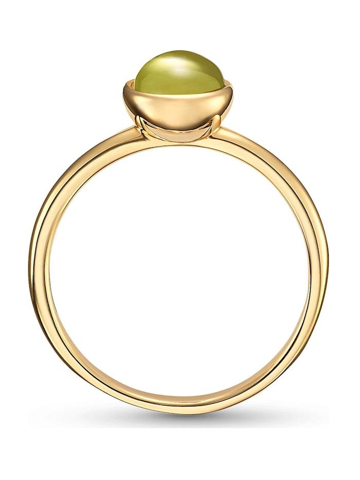 CHRIST Gold Damen-Damenring 375er Gelbgold Peridot