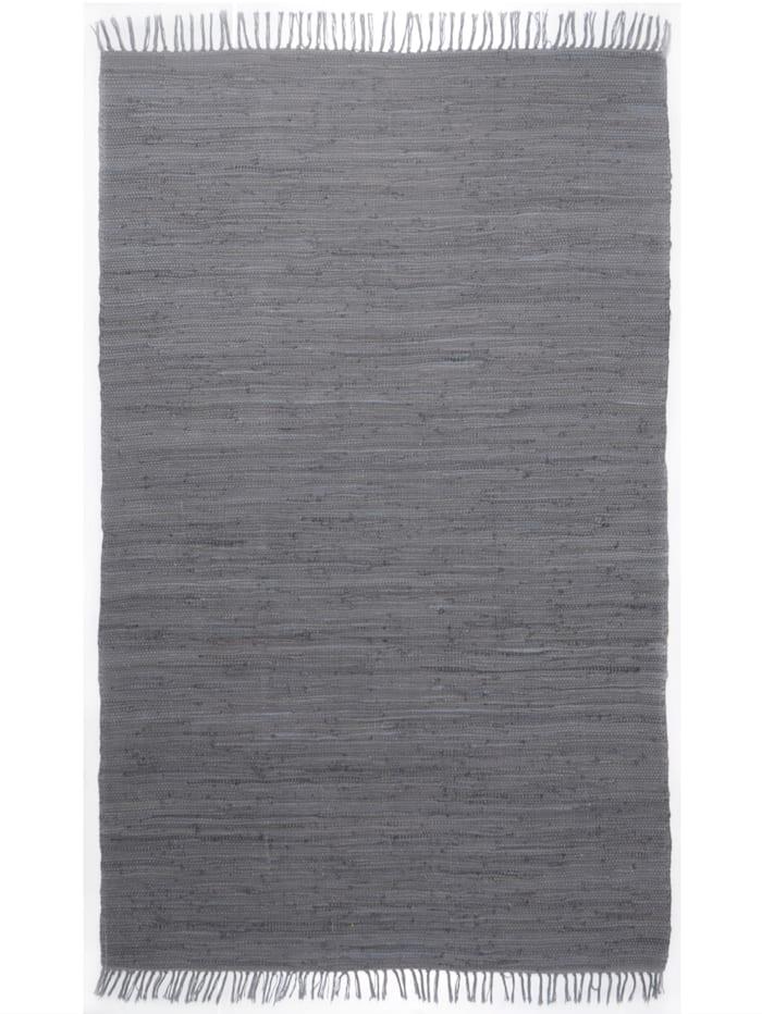 Theko®die Markenteppiche Handwebteppich Ulli, Grau