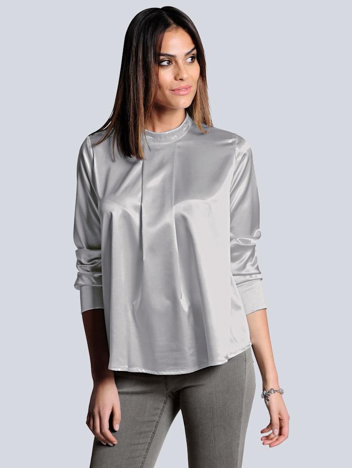 Alba Moda Bluse in leicht glänzender Ware, Stein