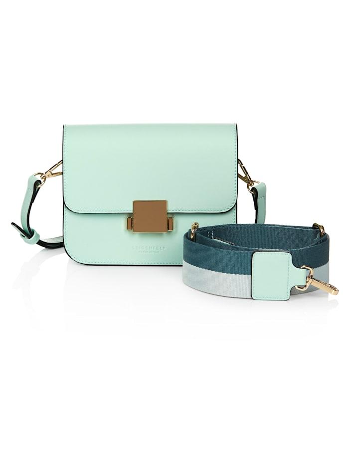 Seidenfelt Crossbody-Bag, Mint