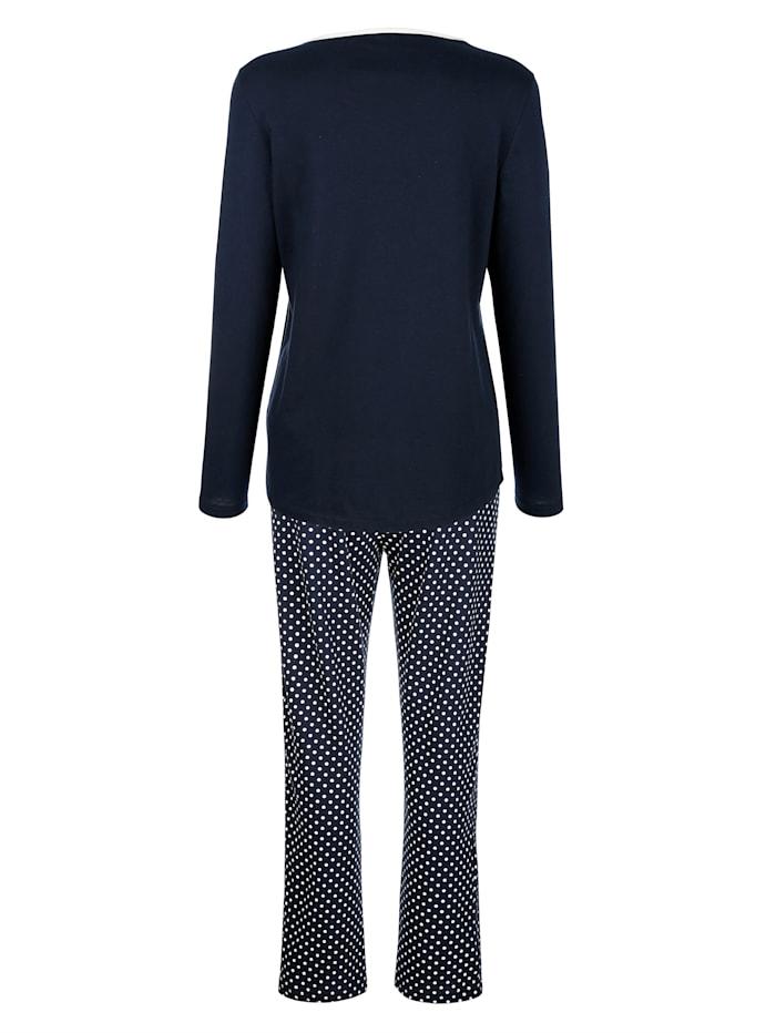 Pyjama met madeliefjesprint