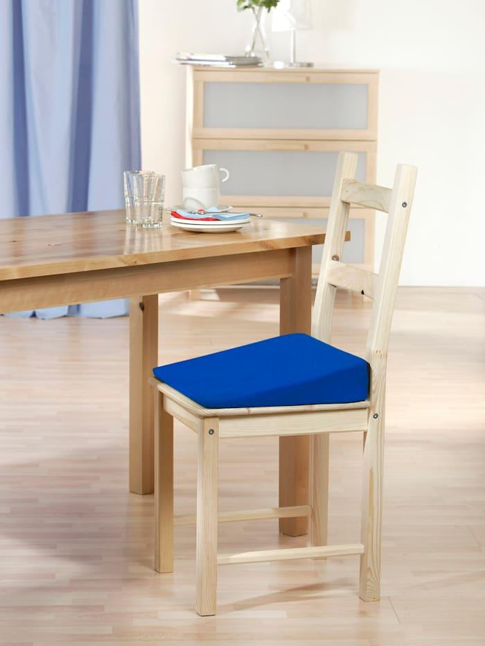 Vankúš na stoličku, modrá