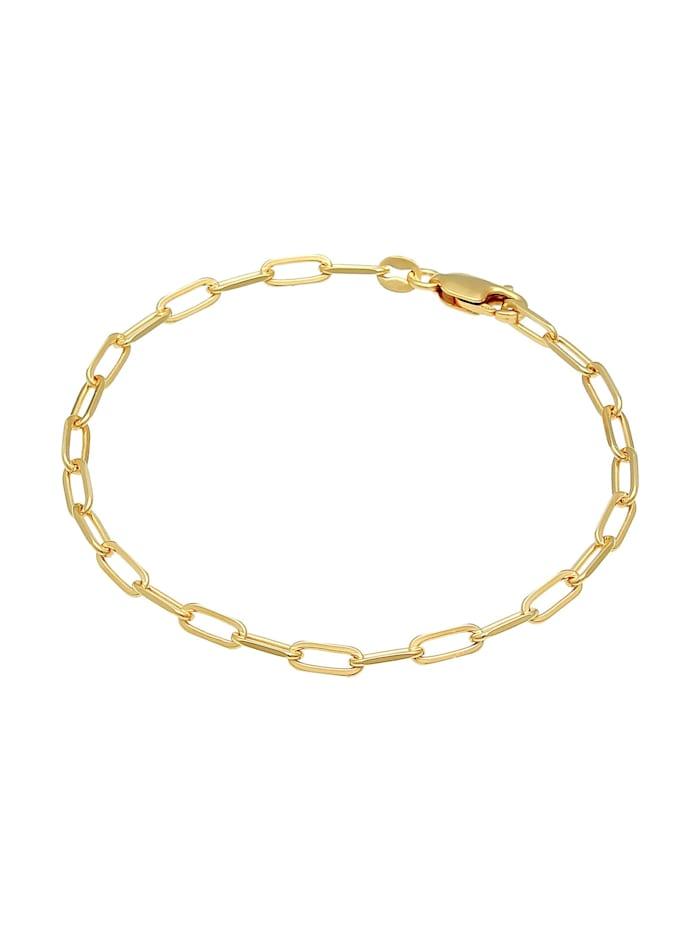 Armband Glieder Oval Basic Chunky Chains Optik 925 Silber