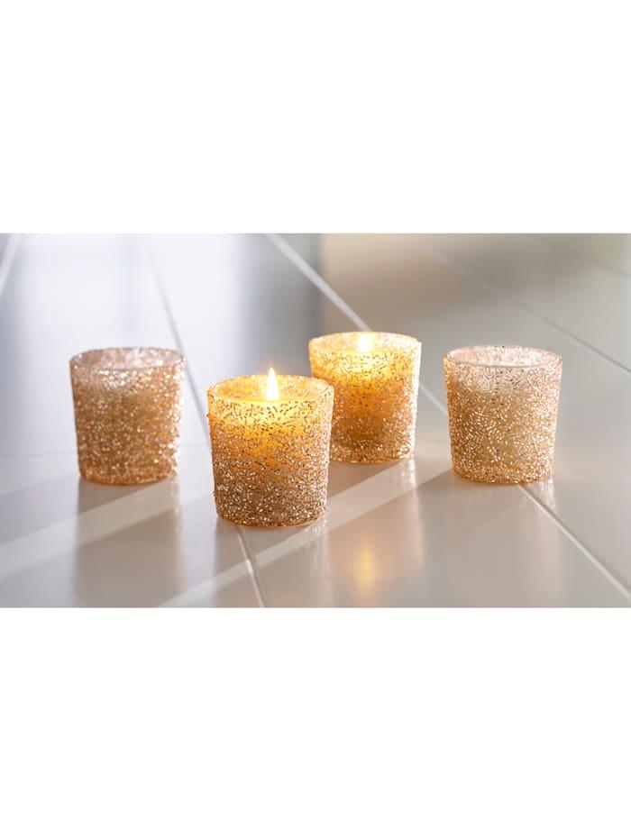 Creativ Deco 4er Set Teelichtgläser, Gold