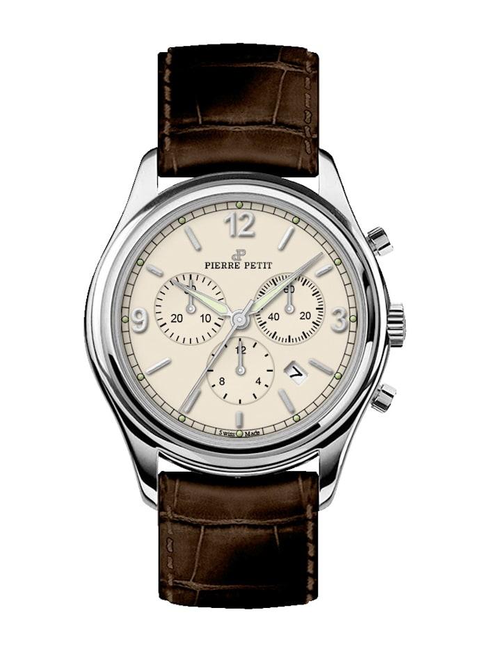 Pierre Petit Herrenuhr-Chronograph St. Moritz P-836B, Braun
