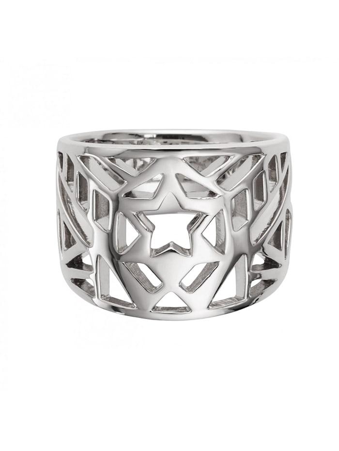 CAI Ring 925/- Sterling Silber ohne Stein Glänzend, weiß