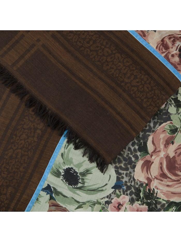 Premium Rosen-Schal aus Modal und Wolle