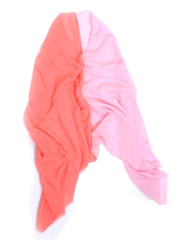 Alba Moda Poncho in leichter Qualität, Pink/Koralle