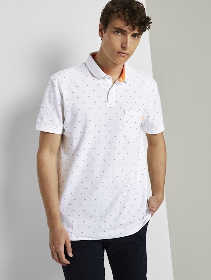 Tom Tailor Denim Gemustertes T-Shirt, white small wave print