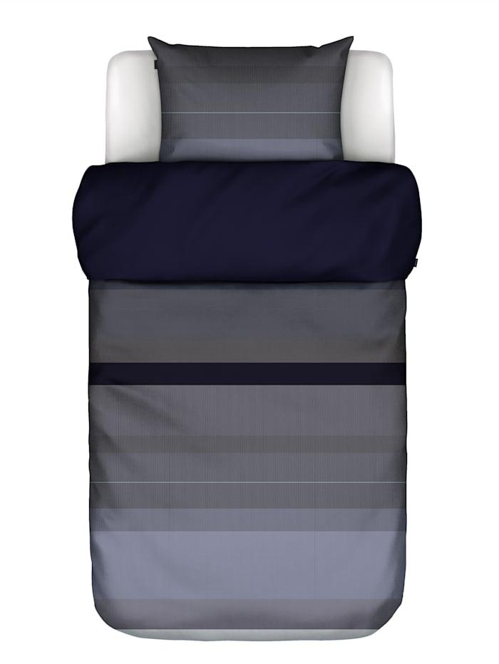 Marc O'Polo Satin Bettwäsche 'Kiya', Indigo blue