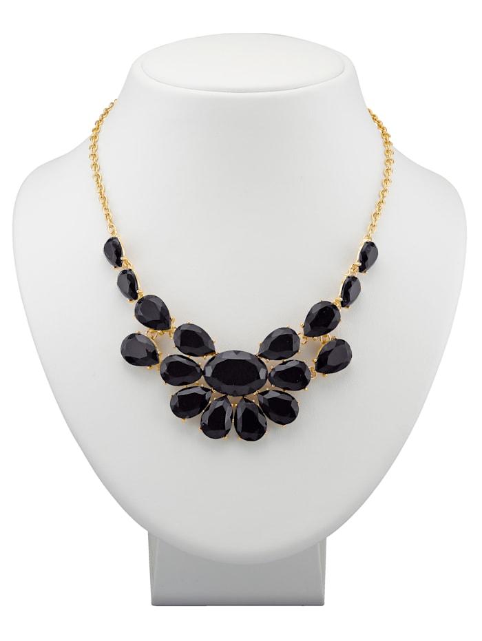 Collier avec perles de verre, Noir