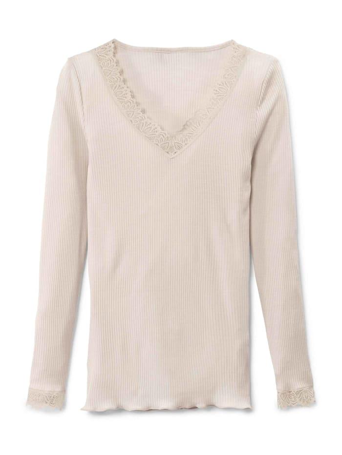 Calida Langarm-Shirt Ökotex zertifiziert, creamy almond
